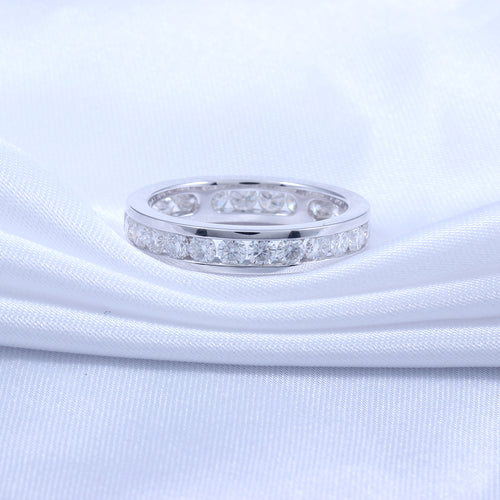 TransGems  Solid 14K White Gold Engagement Ring for Women and Men