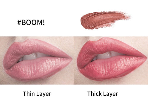 Milletpepper Velvet Matte Waterproof Long Wear Lipstick in Boom!