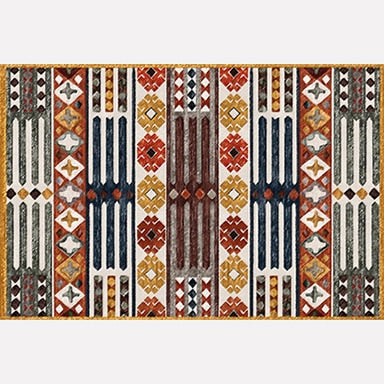 Modern Bohemian Living Room Area Rug