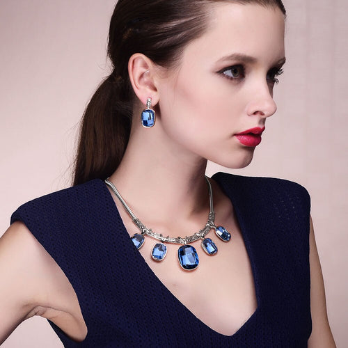 Viennois Jewelry Set of Necklace and Earrings for Women