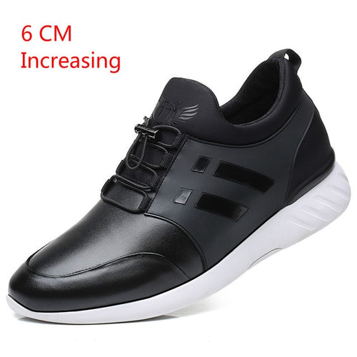 Men's Genuine Leather Breathable Sneakers Available in Big Sizes