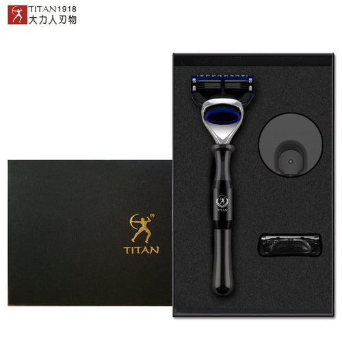 Titan Safety Razor with Metal Handle, Replaceable Blade