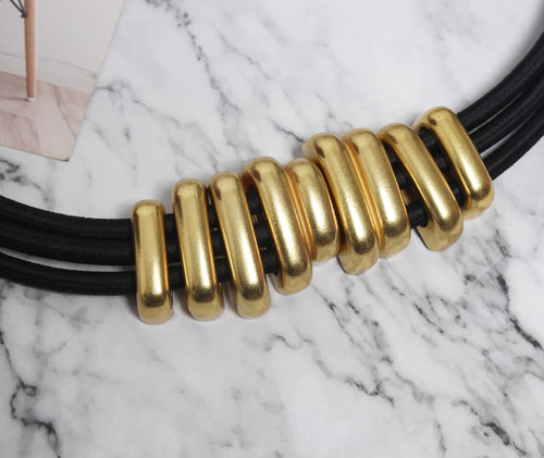 Women's Belt with Metal Circle Decoration