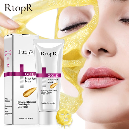 Rtopr Gold Black Face Peel Mask Blackhead Deep Cleansing Acne Treatment