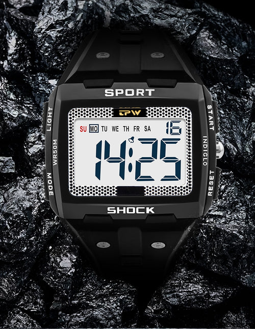 Men's 5 ATM Waterproof Multifunction Digital Watch
