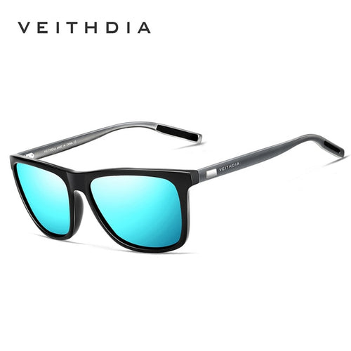 Men's Women's Unisex Aluminum Polarized Mirrored Square Sunglasses UV400