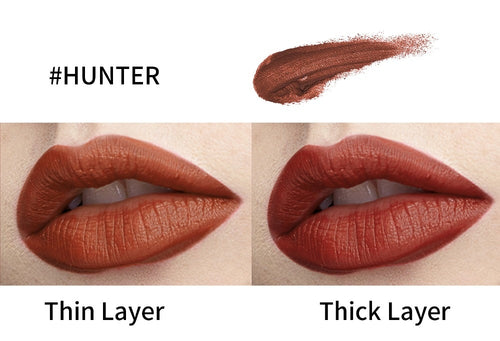 Milletpepper Velvet Matte Waterproof Long Wear Lipstick in Hunter