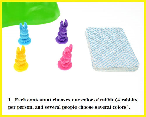 Children's Rabbit Cross Country Board Game