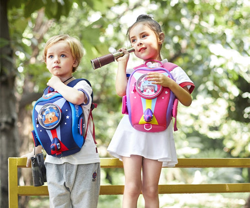 Girls' Boys' Toddler 3D Rocket Waterproof Backpack with Safety Harness Leash