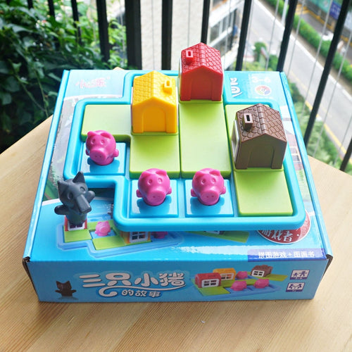 Children Hide and Seek Three Little Pigs and Wolf Strategy Game Toy