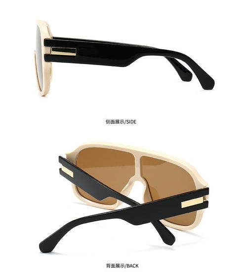 Men's Oversized Shield Siamese Sunglasses UV400