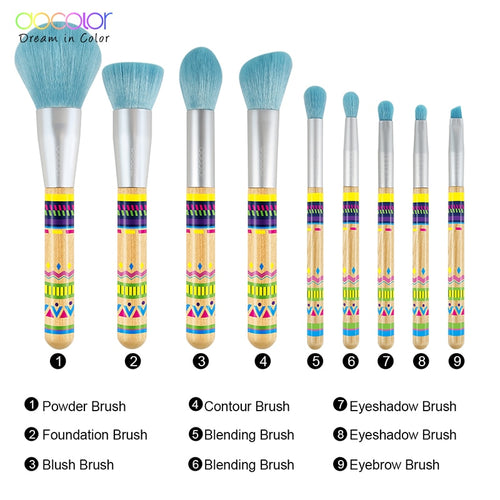 Docolor 9Pcs Makeup Professional Brushes Set