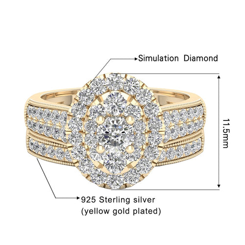 Szjinao 14k Gold Diamond Ring for Women