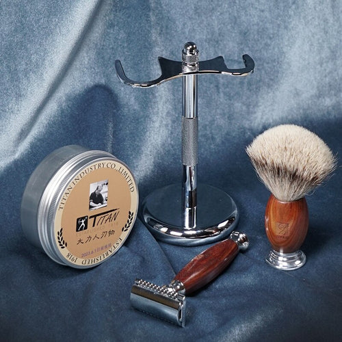 Men's Barber Razor Shaving Soap / Holder / Brush