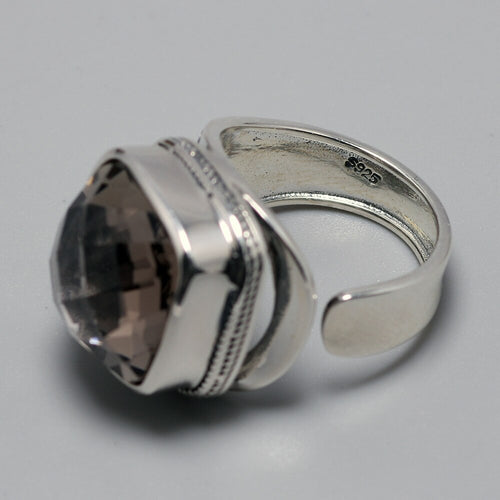 Women's 925 Sterling Silver Natural  Gemstone Ring