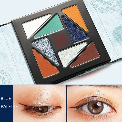 MeiKing 8 Color Eyeshadow Shimmer Matte Glitter Pigment Long-Lasting and Waterproof Palette