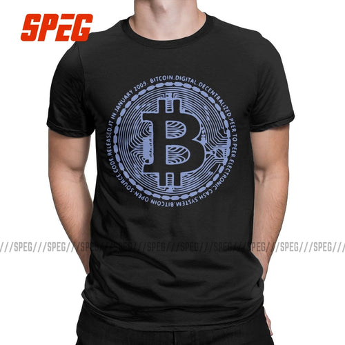 Men's Bitcoin Crypto Currency Printed T-Shirt