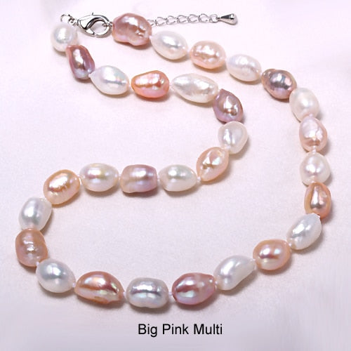 Women's Freshwater Pearl Necklace with Gold Plated Buckle