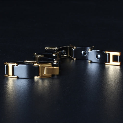 Men's Stainless Steel Ceramic Handmade Bracelet