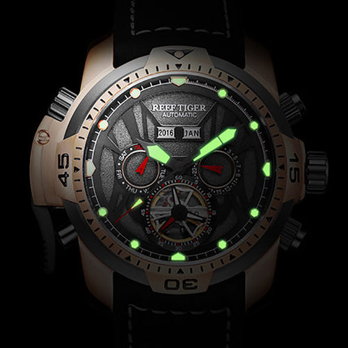 Reef Tiger Men's Transformer Edition 10 ATM Water Resistant Mechanical Watch