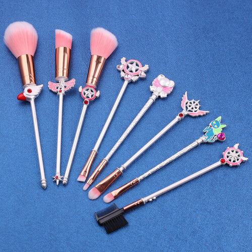 Cosmetics Makeup Brushes Set in Anime Style