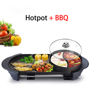 2-in-1 BBQ Multifunction Electric Contact Grill