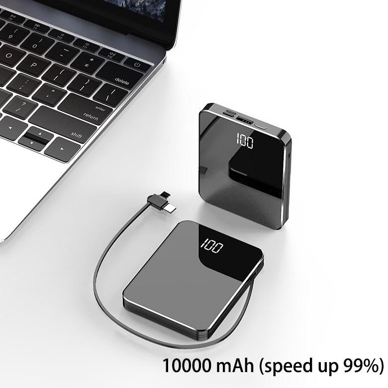 70% OFF-Upgraded mini ultra-thin power bank with cable
