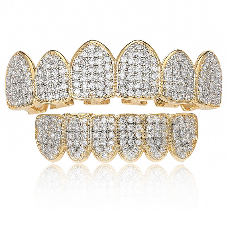 24K Gold Plated Grille Hip Hop Top Teeth Barbecue Cap