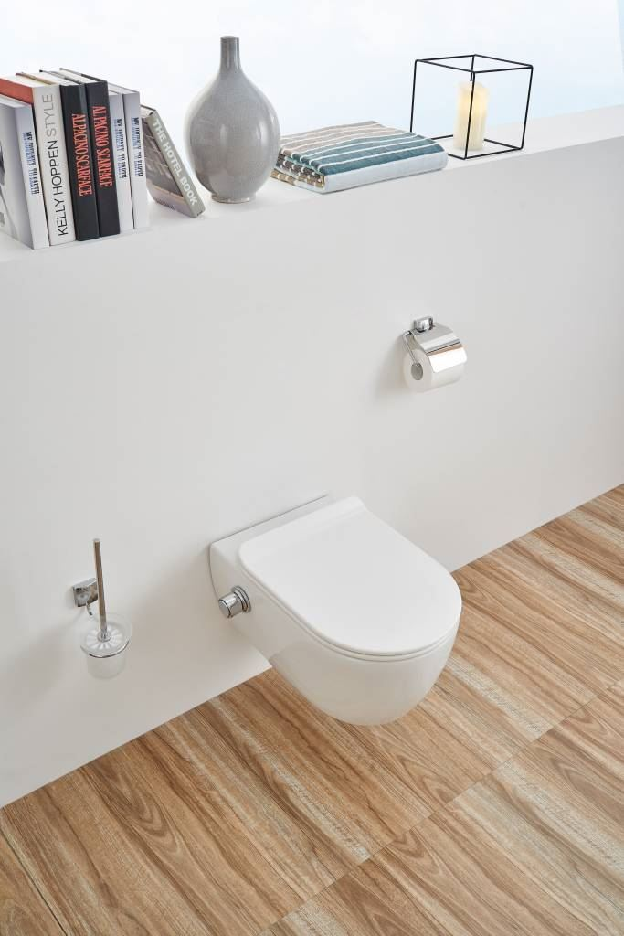Rimfree toiletpot 54cm Luzi easy flush met bidet