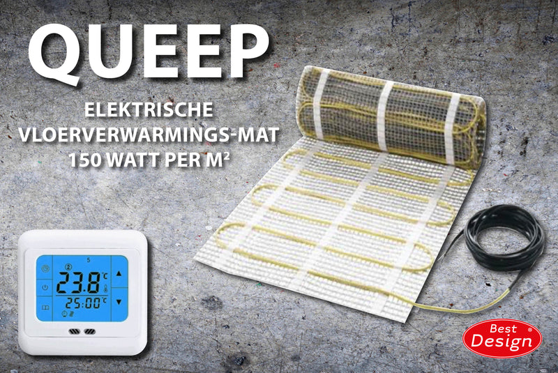 Best-Design Queep elektrische vloerverwarmings-mat 6.0 m2