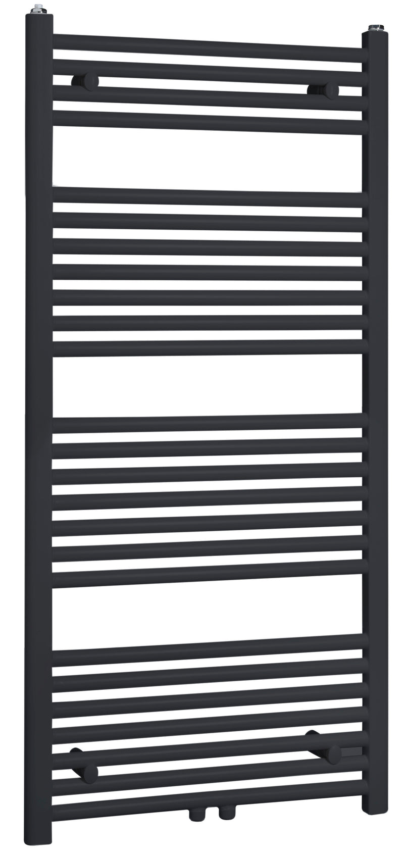 Best-Design Zwart-ral 9011 Zero radiator recht model 1200x600mm
