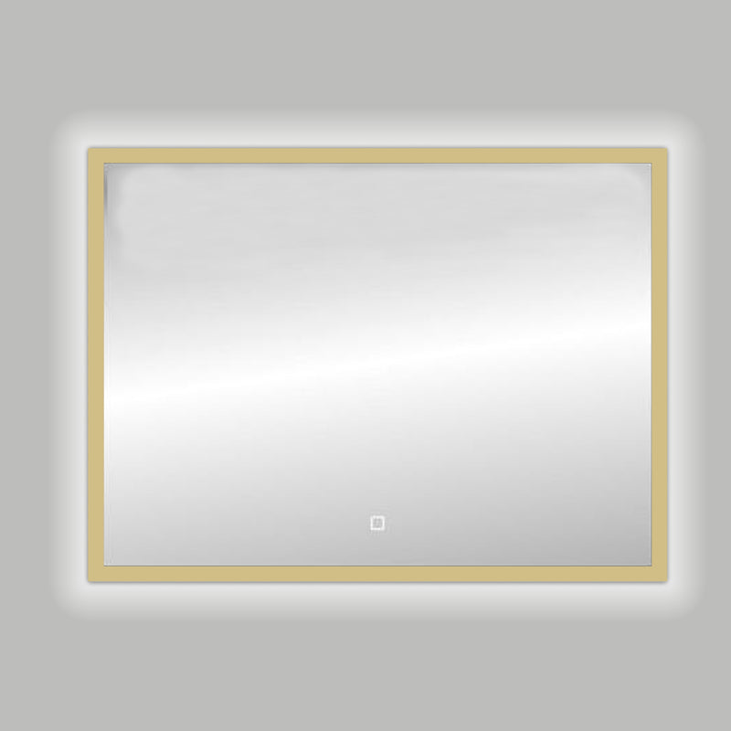 Best-Design Nancy Isola Mat-Goud LED spiegel B=100 x H=80cm