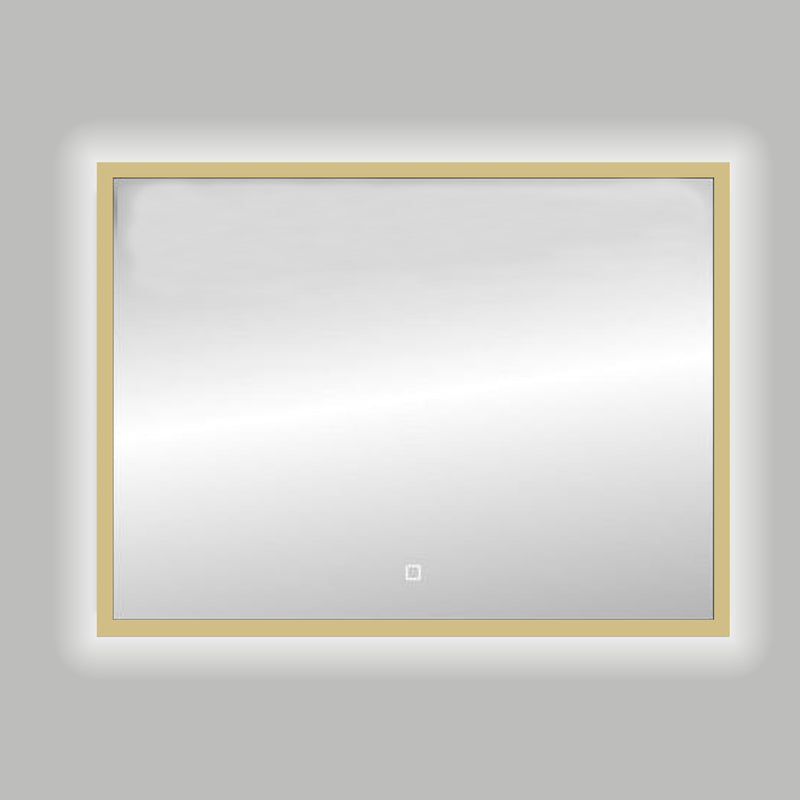Best-Design Nancy Isola Mat-Goud LED spiegel B=120 x H=80cm