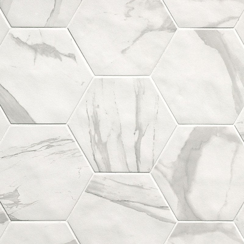 Hexagon Roma Statuario mat 21,6x25