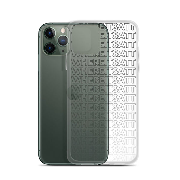 iPhone Case - Black | Where It's ATT Merchandise