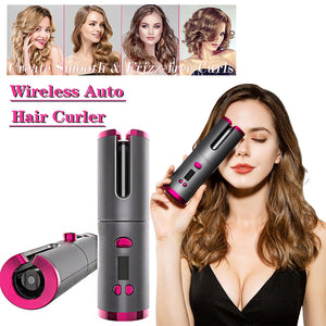 CORDLESS AUTOMATIC HAIR CURLER IRON
