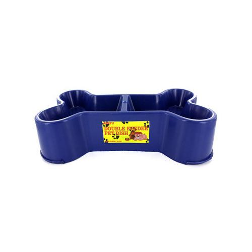 Bone-Shaped Double Feeder Pet Dish ( Case of 12 )
