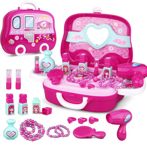 Kids Makeup Toys Girls Games Baby Cosmetics Pretend Play Set Hairdressing Make Up Beauty Toy For Girl Developing Game