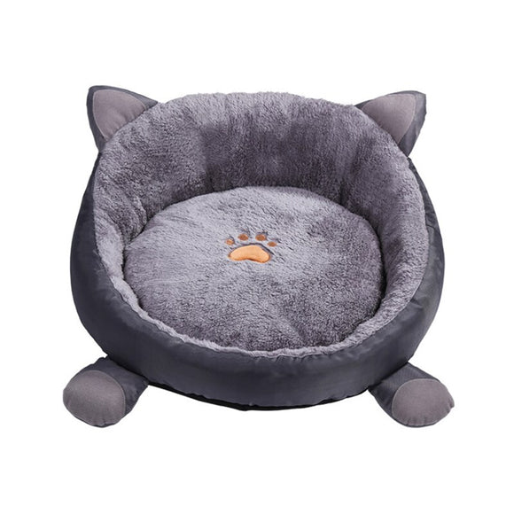 Pet Dog Bed Dog Baskets Fall and Winter Warm Soft Fleece Mat Kennel For Cat Puppy Warming Dog House Soft Material Nest A