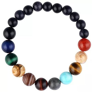 2019 Eight Planets Bead Bracelet Men Natural Stone Universe Yoga Solar Chakra Bracelet for Women Men Jewelry Gifts Drop Shipping