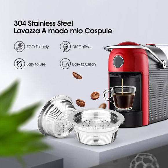 Stainless Steel Metal Lavaza a modo mio Reusable Coffee Capsule Filter For Lavazza A Modo Mio Jolie/Tiny & LM3100 ESPRIA