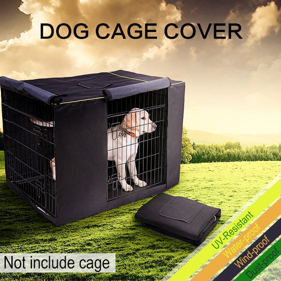 Pet Dog Cage Cover Waterproof Non-slip Solid Extra Kennel Cover for Cage Medium Large 3 Sizes Travel Training Dog Products