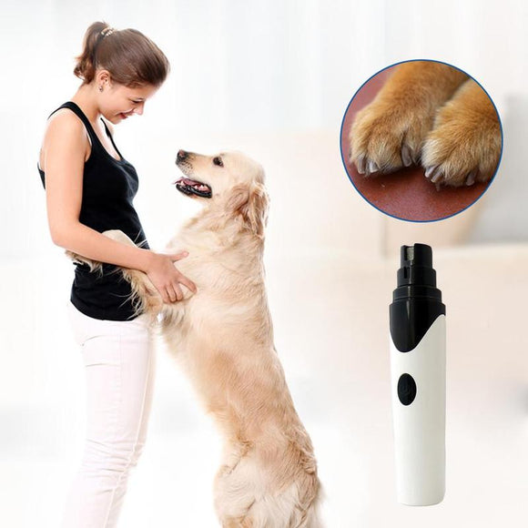 2019 Rechargeable USB Electric Pet Dog Nail Grinder Trimmer Nails Dog Cat Care Grooming Clipper Pets Paws Nail