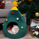 Pet Cat Dog House Kennel Puppy Cave Sleeping Bed Christmas tree shape Winter Warm Bed For Cats Dog cama para cachorro