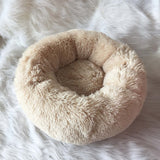 Removable Dog Bed Plush Round Donut Pet Beds Kennel Cusion Puppy Mats Lounger Comfy House Sofa for Medium Large Dogs Detachable