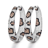 missvikki New Design Hot 2019 Leopard Hoop Earrings Women Bridal Wedding Party Occasion Top Shiny Cubic Zirconia Jewelry