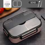 WORTHBUY Japanese Kids Lunch Box 304 stainless steel Bento Lunch Box With Compartment Tableware Microwave Food Container Box