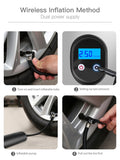 AUDEW 12V 150PSI Electric Air Pump Portable Mini Tires Inflator USB Charging Auto Bike Bicycle Cycling Motorcycle With LED Light