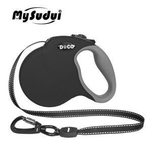 MySudui 4M 5M Retractable Dog Leash Automatic Extending Reflective Nylon Dog Leads Leash Big Dog Leash Retractable For Large Dog