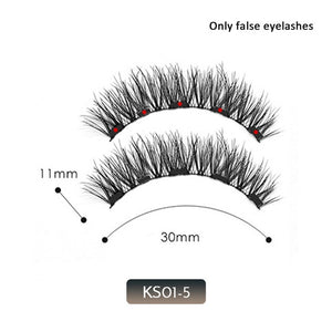 Magnetic False Eyelashes No Glue Full Eye 5 Magnet Reusable Fake Eyelashes Natural Soft Eyelashes Extension Magnetic Eyelash Kit